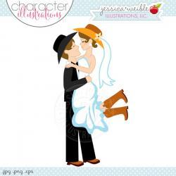 Romance clipart western wedding