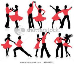 Latin clipart couple dance