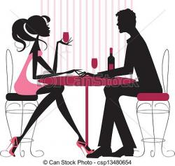 Restaurant clipart romantic dinner