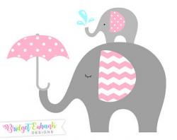 Umbrella clipart baby elephant
