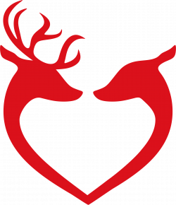 Couple clipart reindeer