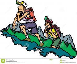 Hiking clipart cartoon