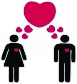 Men clipart woman in love
