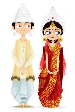 Bengal clipart bengali wedding card