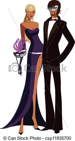 Masquerade clipart couple
