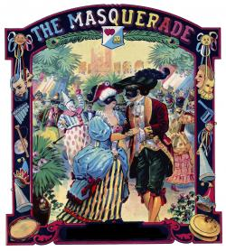 Masquerade clipart vintage