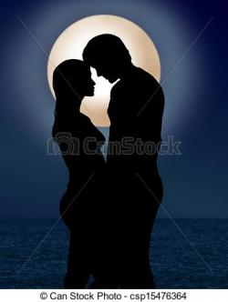 Moonlight clipart romantic