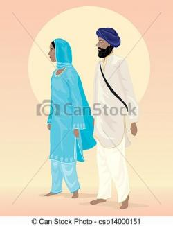 Couple clipart sikh