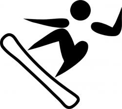 Snowboarding clipart someone