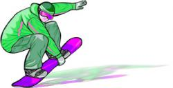 Snowboarding clipart animated
