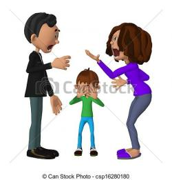 Violence clipart unhappy family