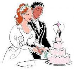Traditional clipart western wedding