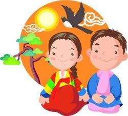 New Year clipart korean traditional clothing