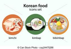 Korean clipart bibimbap