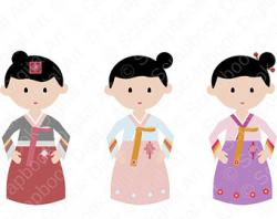 Korea clipart cartoon