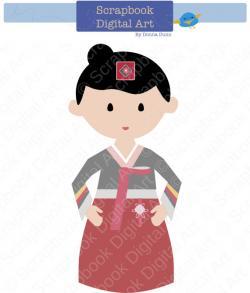 Korea clipart hanbok