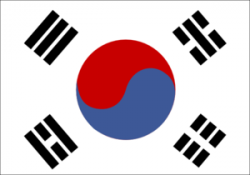 Korea clipart korean flag
