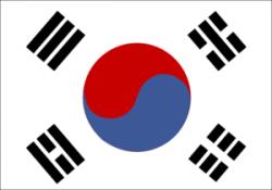 Korea clipart korean flag
