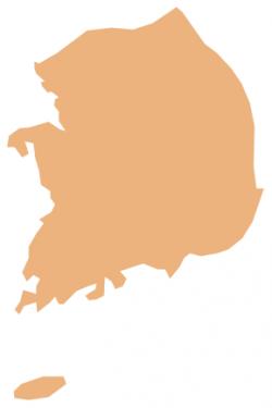South Korea clipart South Korea Map Clipart