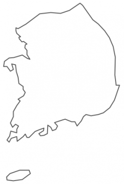 Korea clipart map