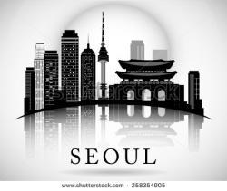 Korea clipart skyline