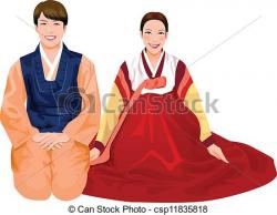 Korea clipart traditional costume