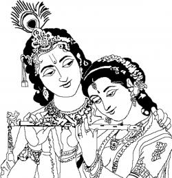 Gods clipart radha krishna