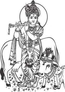 Gods clipart shree krishna