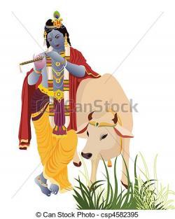 Krishna clipart cow sketch