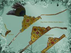 Krishna clipart crown