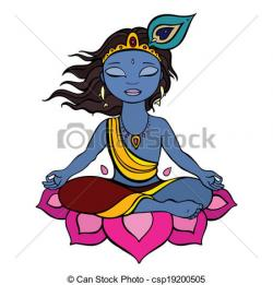 Krishna clipart graphic