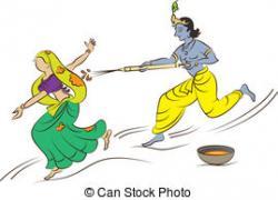 Krishna clipart holi pichkari