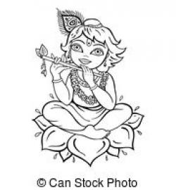 Krishna clipart illustration