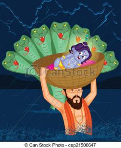 Krishna clipart janmashtami celebration
