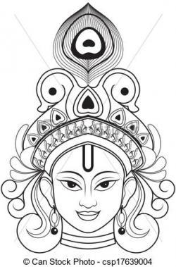 Krishna clipart single