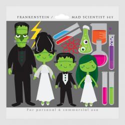 Laboratory clipart frankenstein