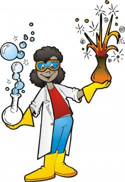 Scientist clipart cartoon