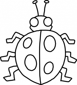 Lady Beetle clipart outline