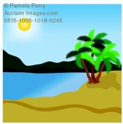 Coast clipart tropical beach