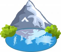 Tranquil clipart lake