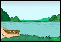 Boat House clipart lake fishing