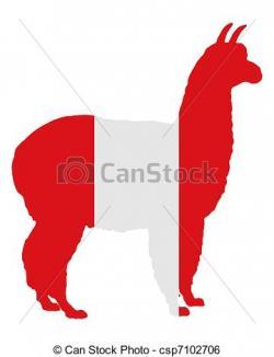 Alpaca clipart peruvian