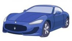 Lamborghini clipart blue sports car