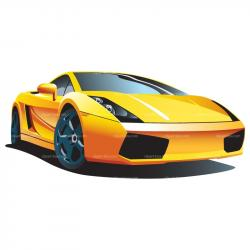 Lamborghini clipart cartoon