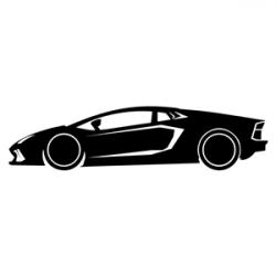 Lamborghini clipart silhouette