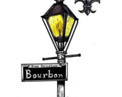 Lamp Post clipart bourbon street