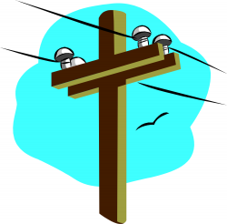 Electrical clipart electricity post