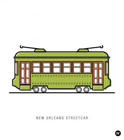 Tram clipart new orleans streetcar