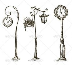 Lamp Post clipart old style