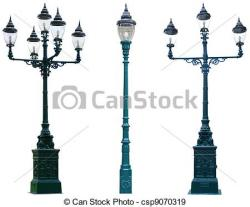 Lamp Post clipart road